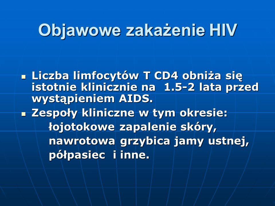 Objawowe zakażenie HIV