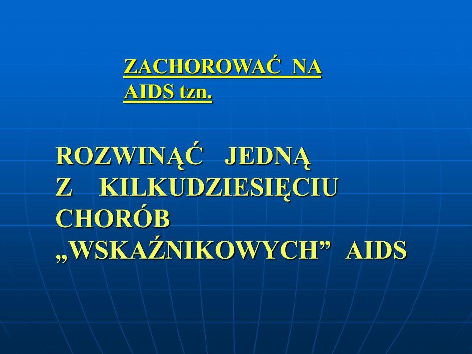 """Z KILKUDZIESIĘCIU CHORÓB """"WSKAŹNIKOWYCH AIDS"""