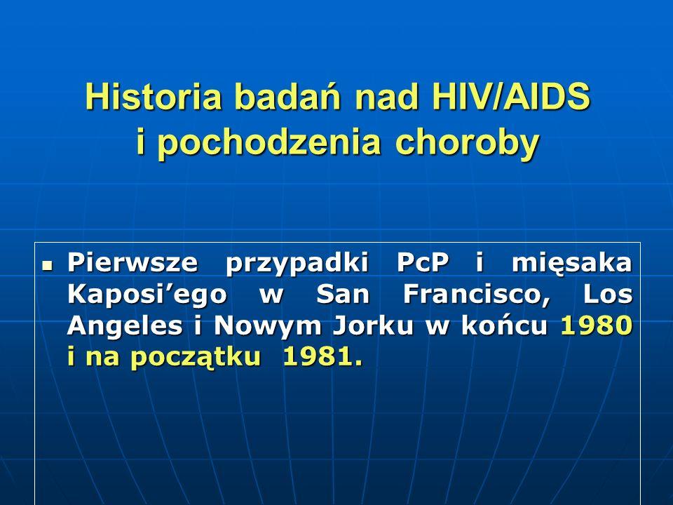 Historia badań nad HIV/AIDS i pochodzenia choroby