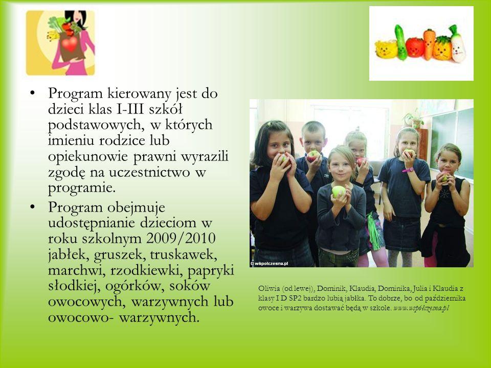 Program kierowany jest do dzieci klas I-III szkół podstawowych, w których imieniu rodzice lub opiekunowie prawni wyrazili zgodę na uczestnictwo w programie.