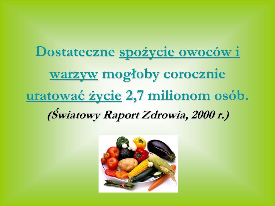 Dostateczne spożycie owoców i warzyw mogłoby corocznie