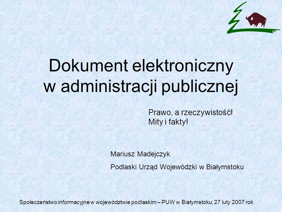 Dokument elektroniczny w administracji publicznej