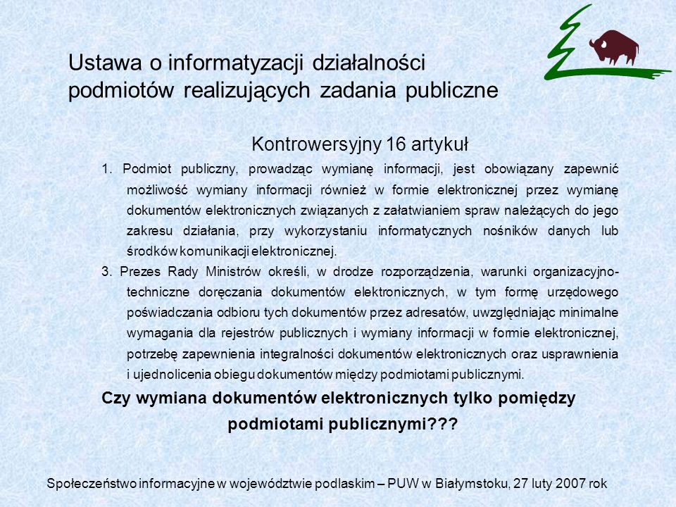 podmiotami publicznymi