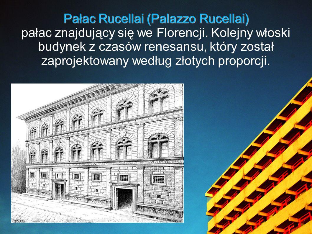 Pałac Rucellai (Palazzo Rucellai)