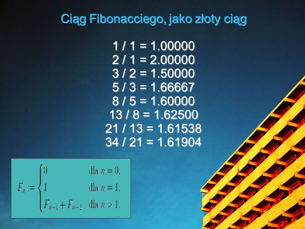 Ciąg Fibonacciego, jako złoty ciąg