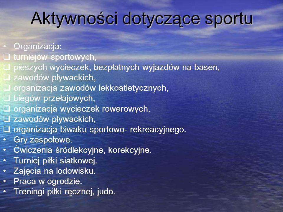 Aktywności dotyczące sportu