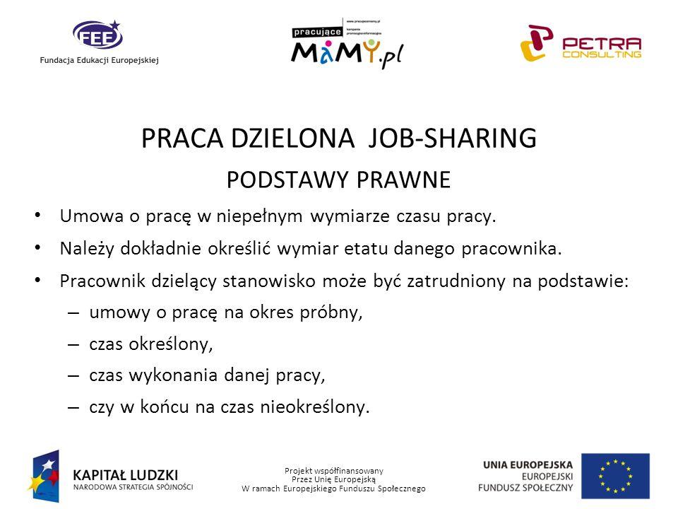 PRACA DZIELONA JOB-SHARING