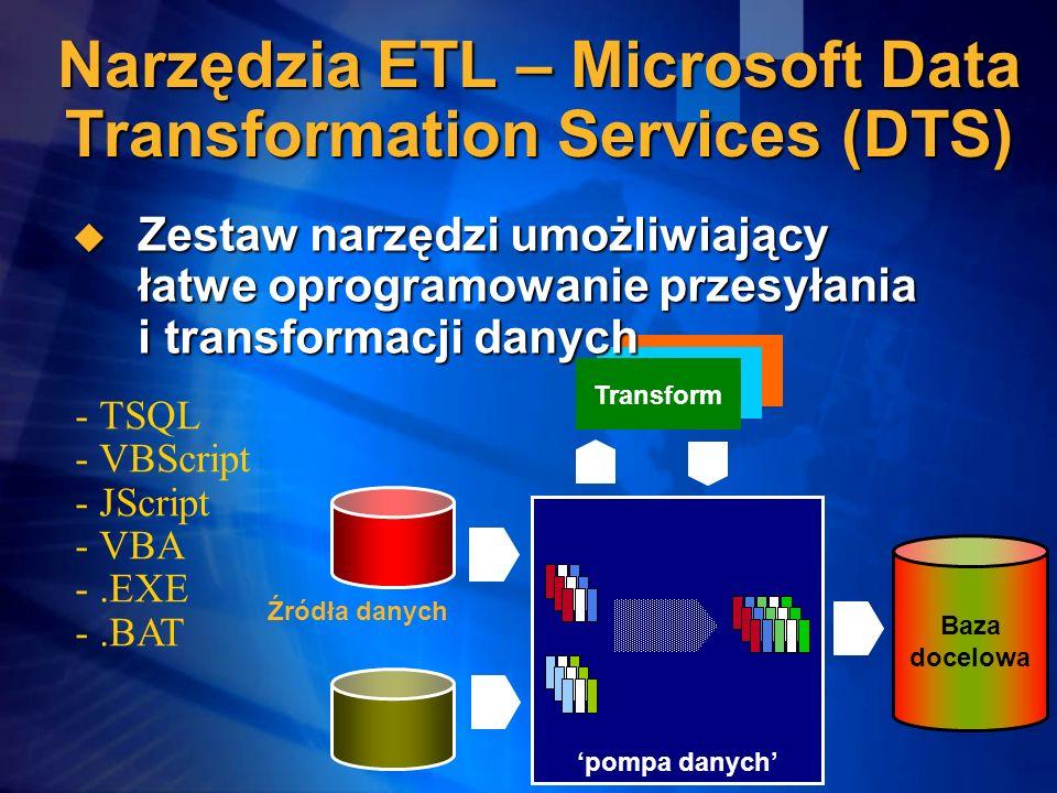 Narzędzia ETL – Microsoft Data Transformation Services (DTS)