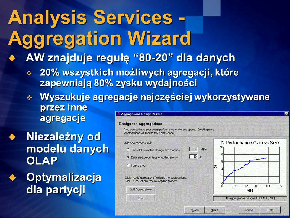 Analysis Services - Aggregation Wizard