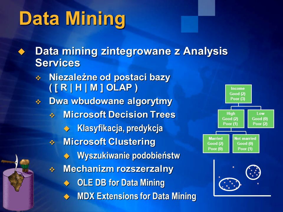 Data Mining Data mining zintegrowane z Analysis Services