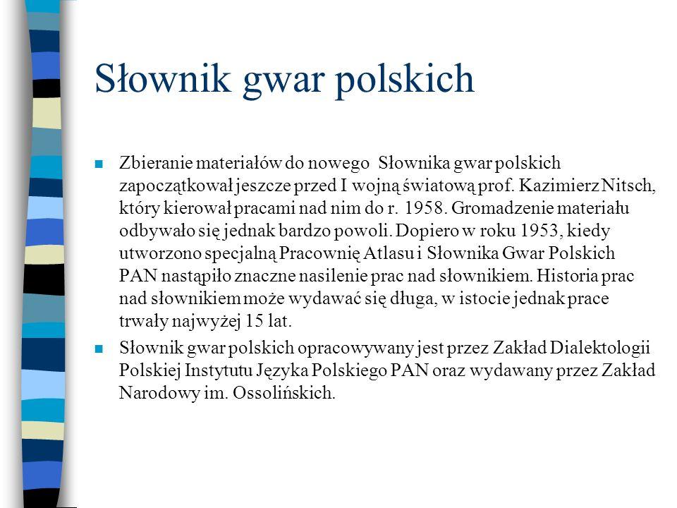Słownik gwar polskich