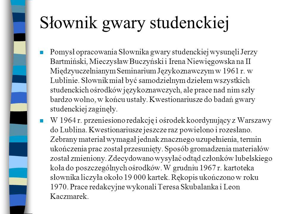 Słownik gwary studenckiej
