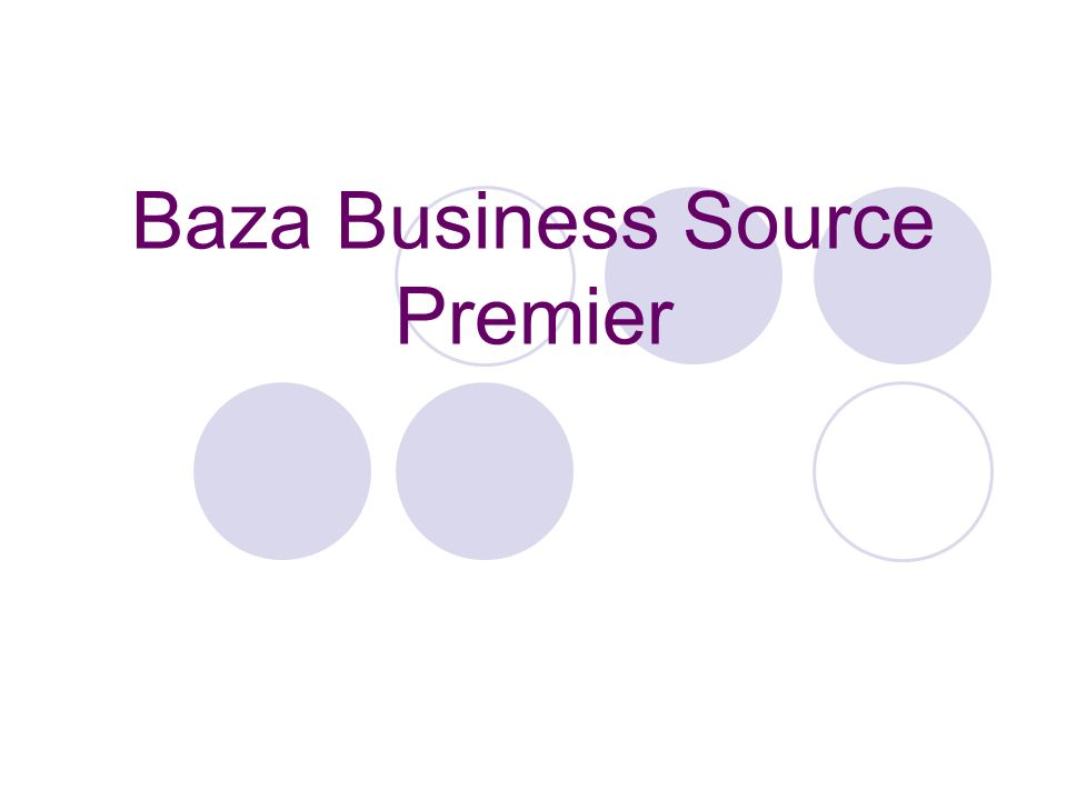 Baza Business Source Premier