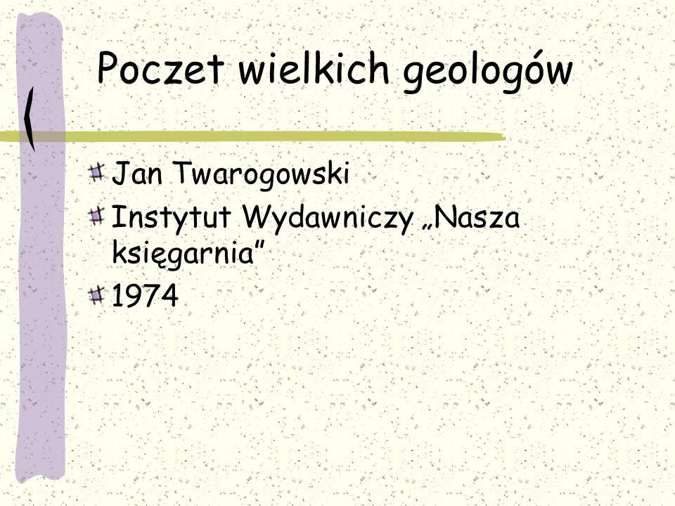 Poczet wielkich geologów