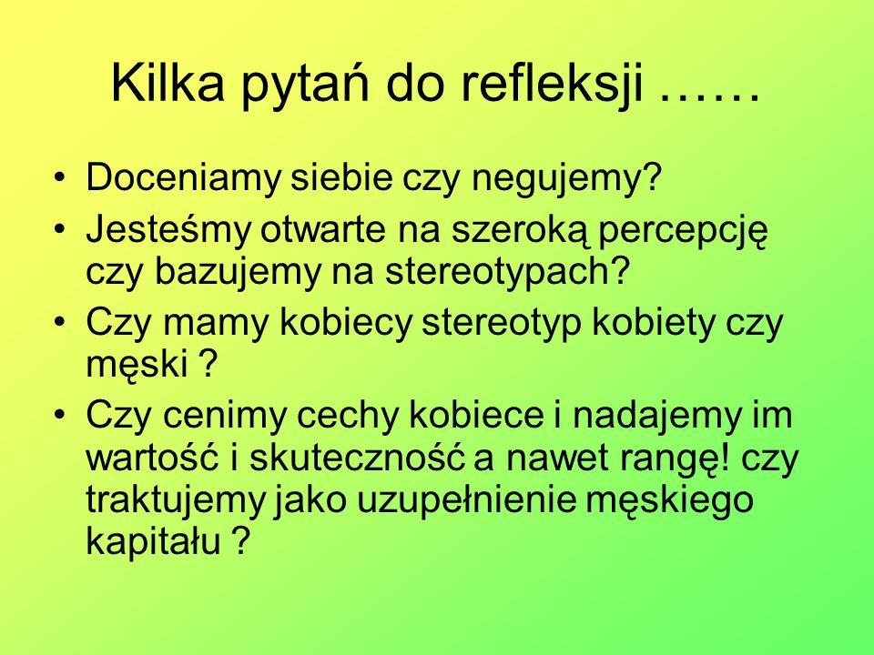 Kilka pytań do refleksji ……