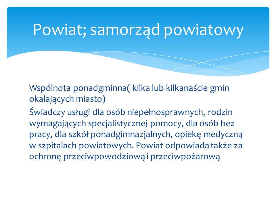 Powiat; samorząd powiatowy