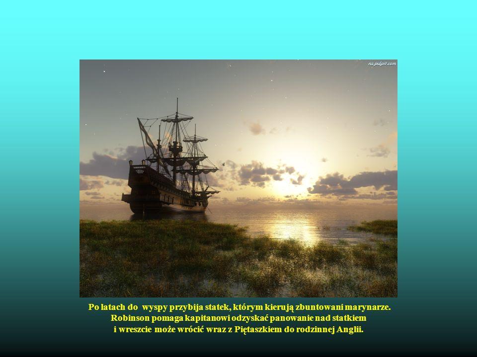Robinson pomaga kapitanowi odzyskać panowanie nad statkiem