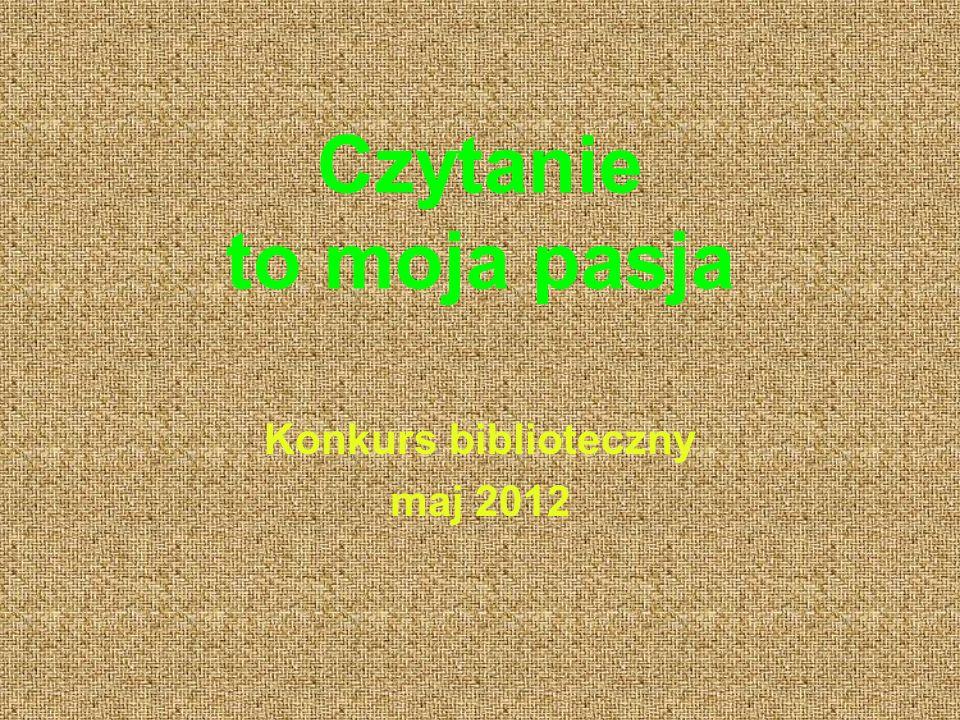 Konkurs biblioteczny maj 2012