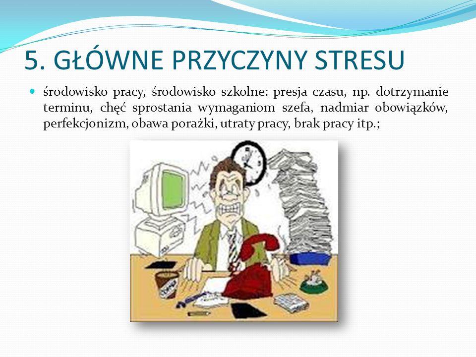 5. GŁÓWNE PRZYCZYNY STRESU