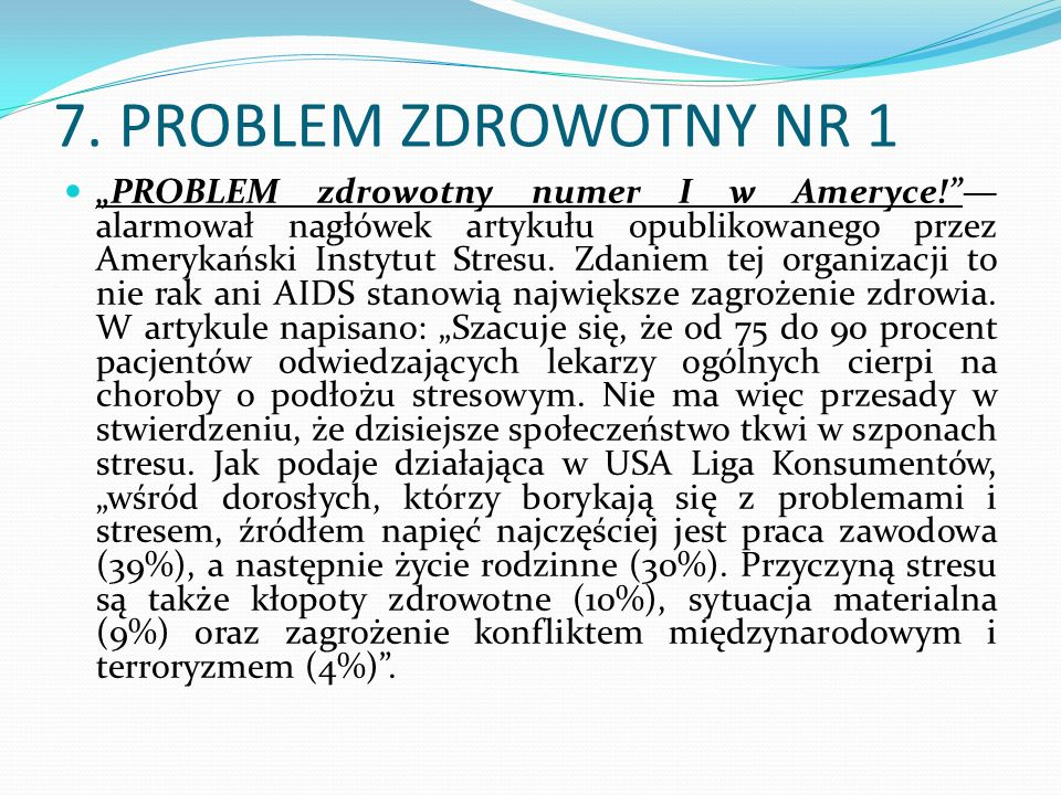 7. PROBLEM ZDROWOTNY NR 1