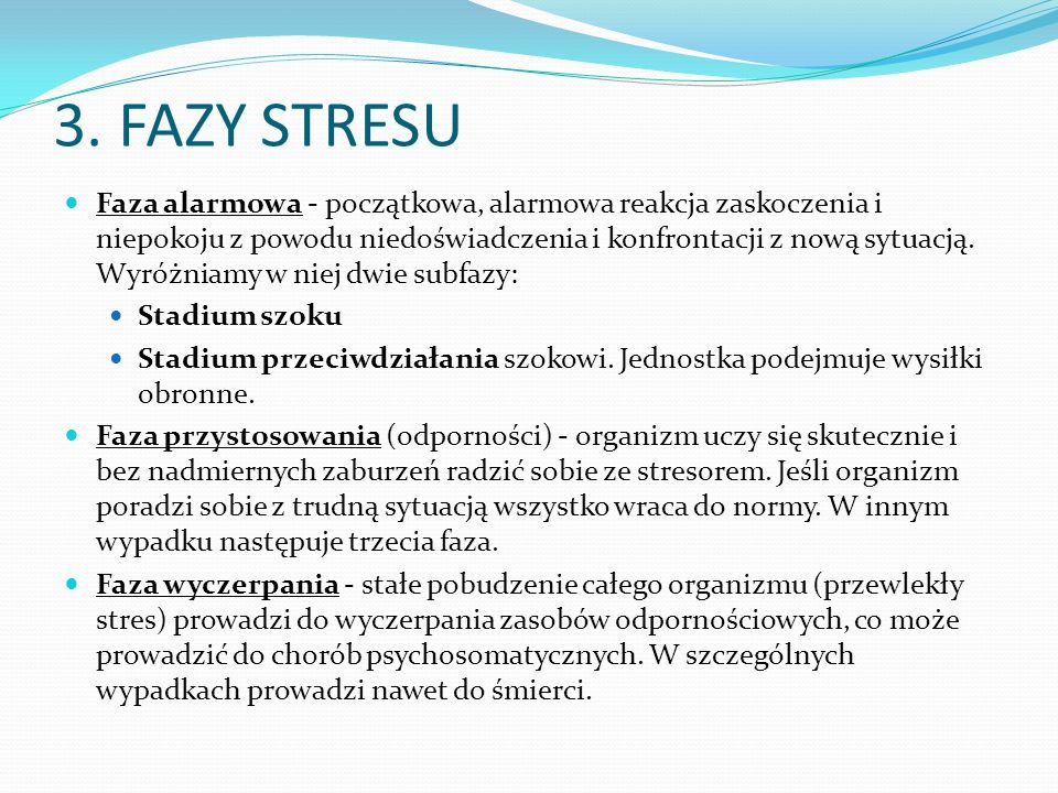 3. FAZY STRESU