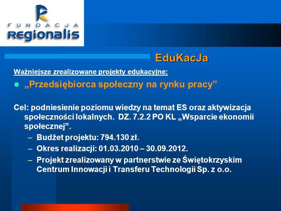 """EduKacJa """"Przedsiębiorca społeczny na rynku pracy"""