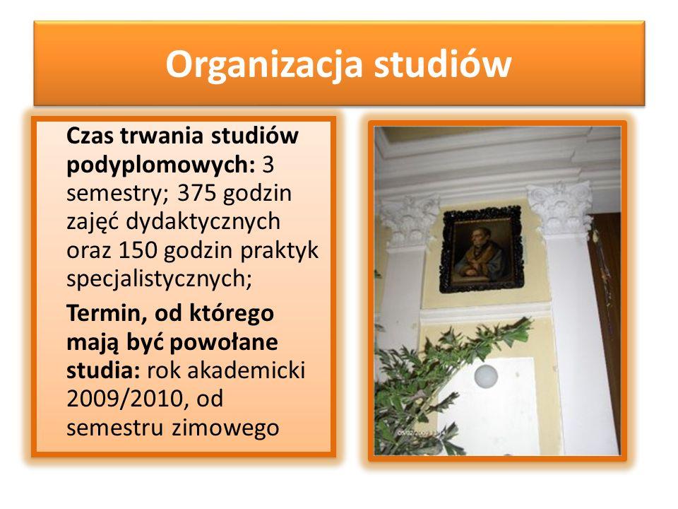 Organizacja studiów