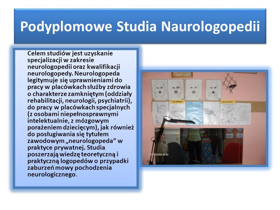 Podyplomowe Studia Naurologopedii