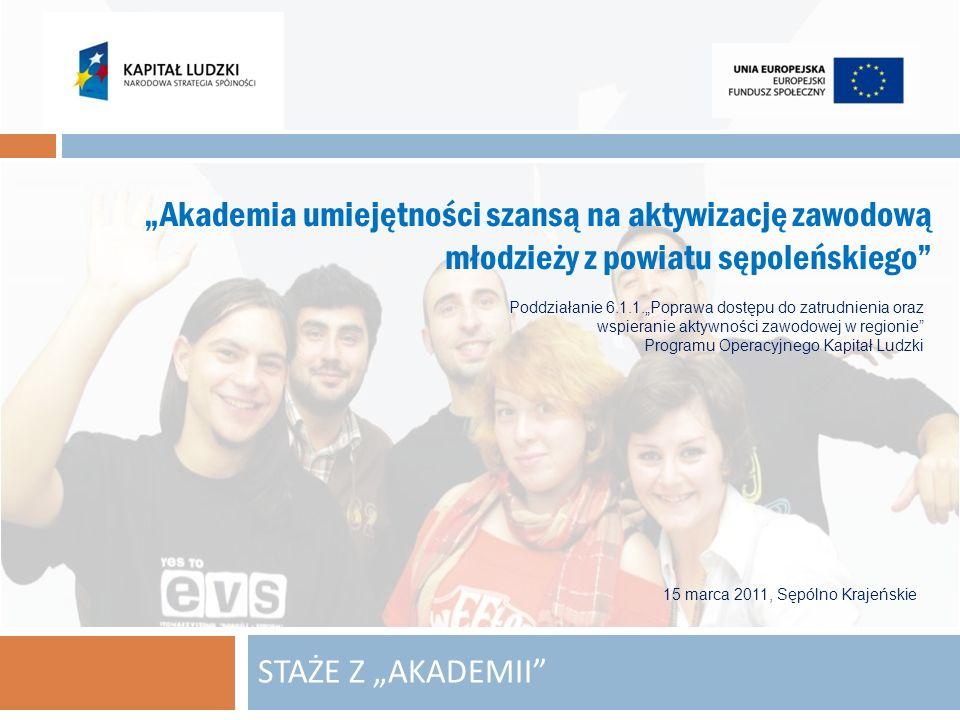 """2010-11-26""""Akademia umiejętności szansą na aktywizację zawodową młodzieży z powiatu sępoleńskiego"""