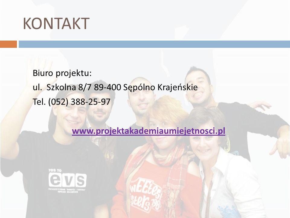 KONTAKT Biuro projektu: ul. Szkolna 8/7 89-400 Sępólno Krajeńskie