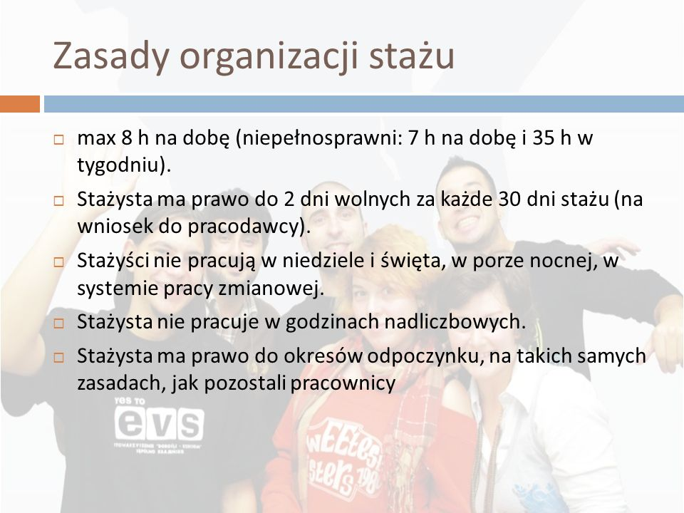 Zasady organizacji stażu