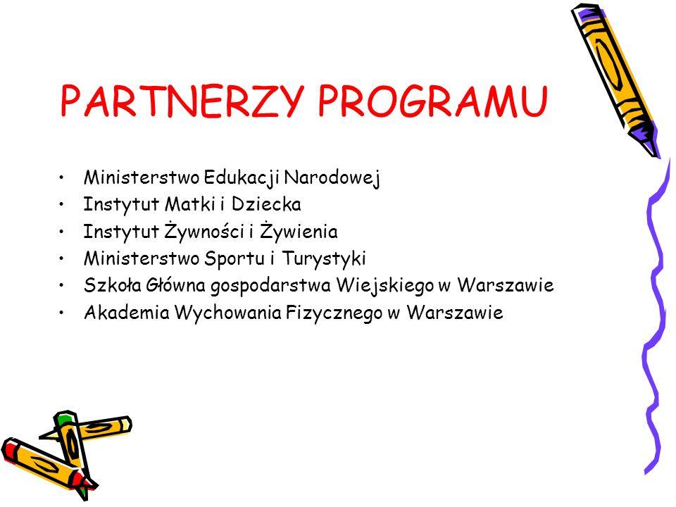 PARTNERZY PROGRAMU Ministerstwo Edukacji Narodowej