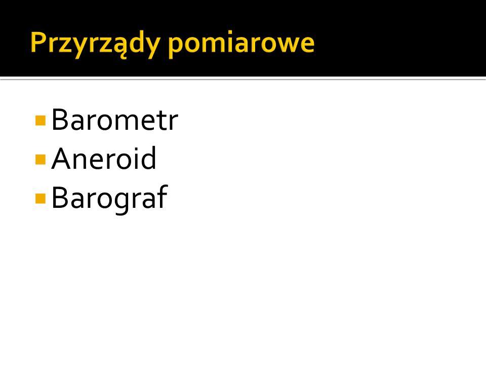 Przyrządy pomiarowe Barometr Aneroid Barograf