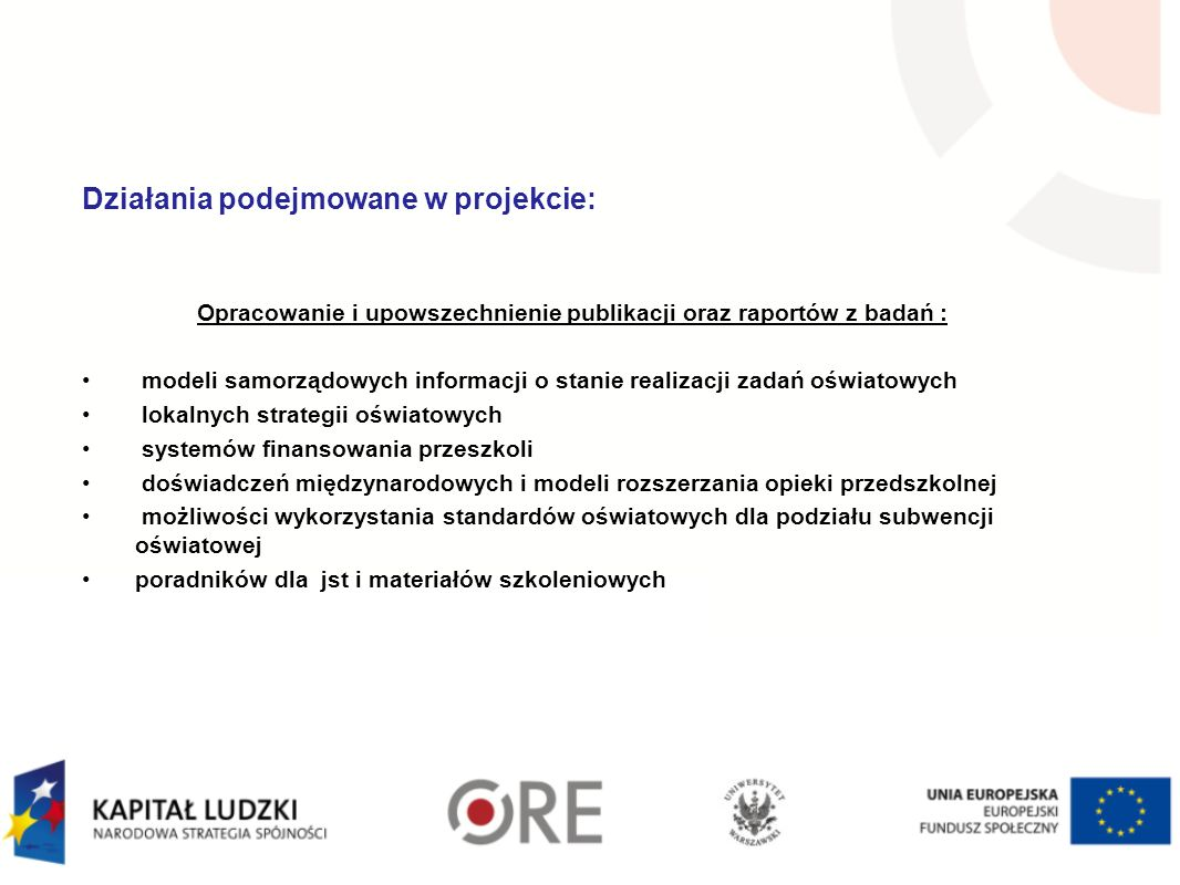 Opracowanie i upowszechnienie publikacji oraz raportów z badań :