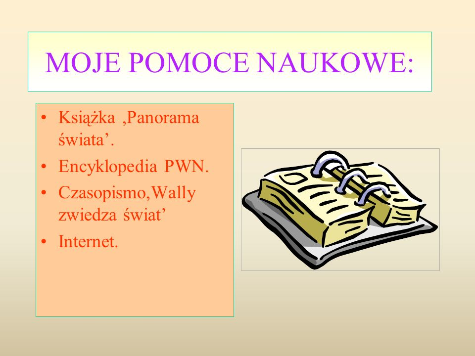 MOJE POMOCE NAUKOWE: Książka ,Panorama świata'. Encyklopedia PWN.