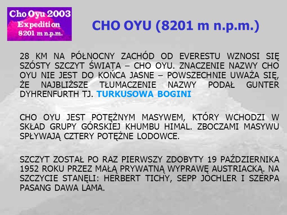 CHO OYU (8201 m n.p.m.)