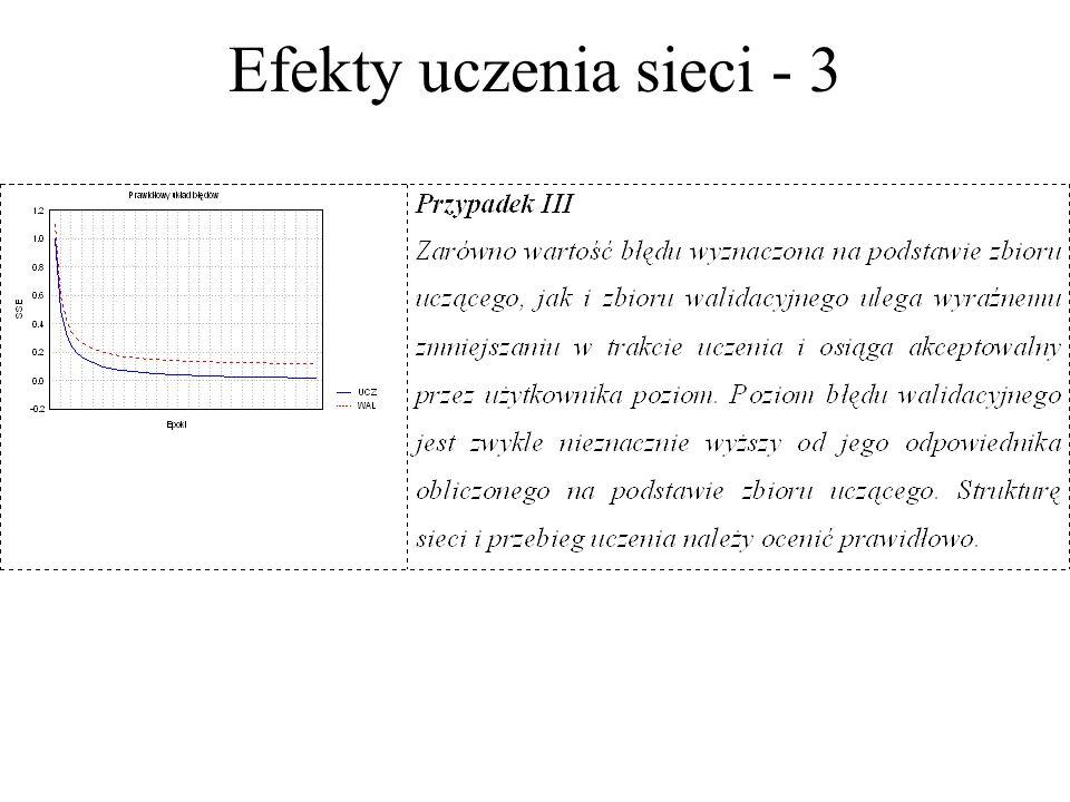 Efekty uczenia sieci - 3