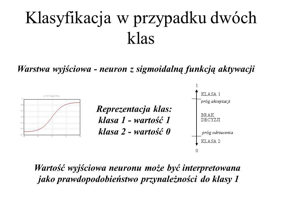 Klasyfikacja w przypadku dwóch klas