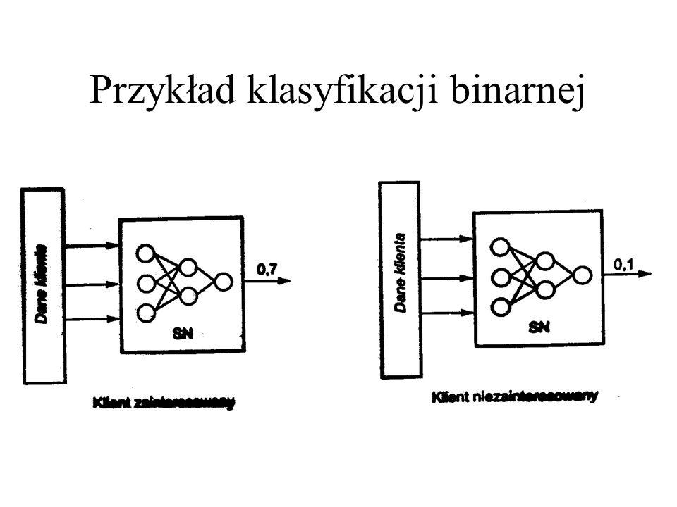 Przykład klasyfikacji binarnej