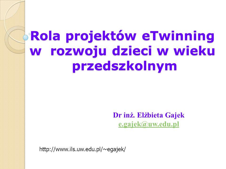 Rola projektów eTwinning w rozwoju dzieci w wieku przedszkolnym