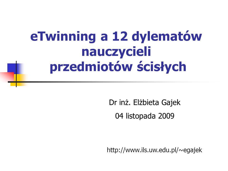 eTwinning a 12 dylematów nauczycieli przedmiotów ścisłych