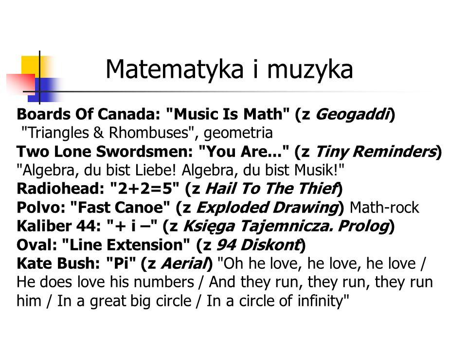Matematyka i muzyka Boards Of Canada: Music Is Math (z Geogaddi) Triangles & Rhombuses , geometria.