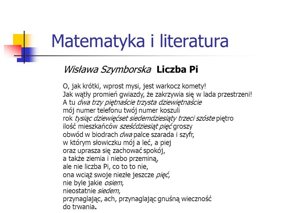 Matematyka i literatura
