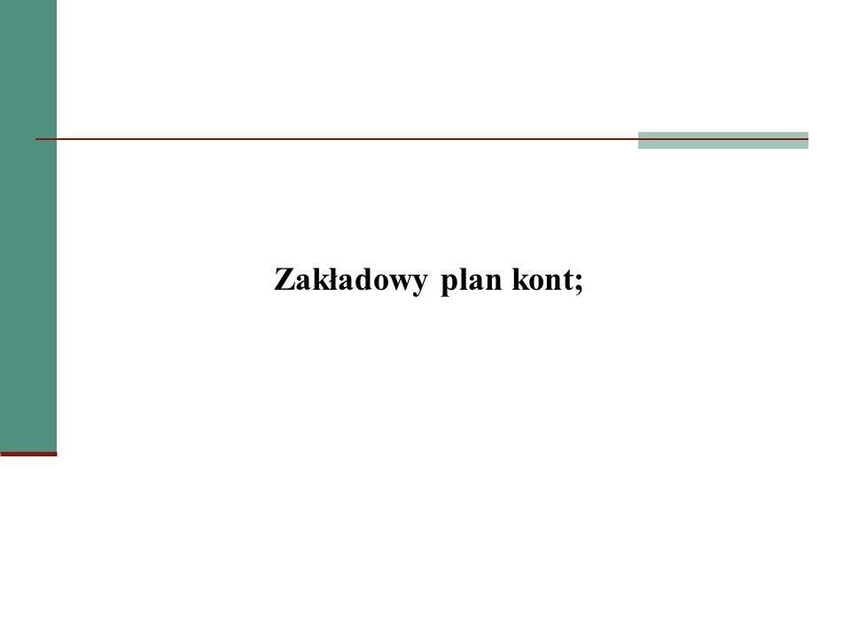 Zakładowy plan kont;