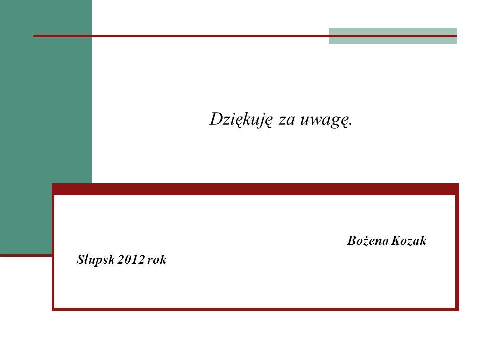 Bożena Kozak Słupsk 2012 rok