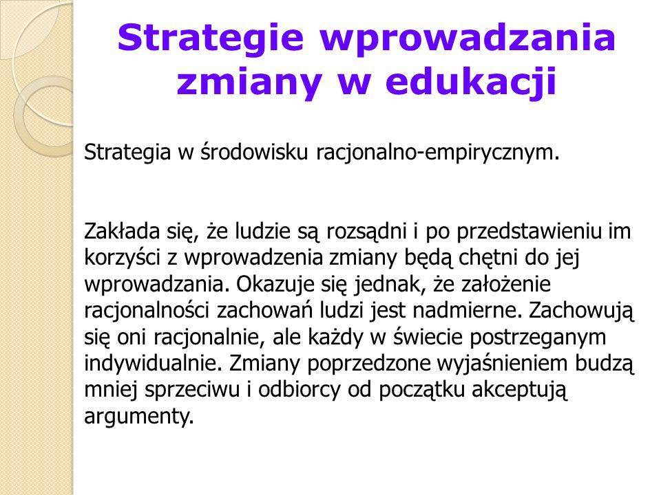 Strategie wprowadzania zmiany w edukacji