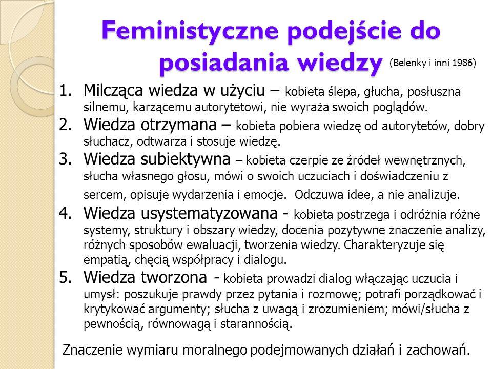 Feministyczne podejście do posiadania wiedzy