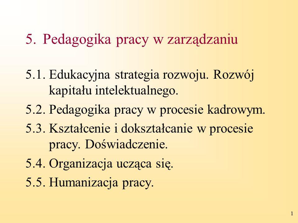5. Pedagogika pracy w zarządzaniu