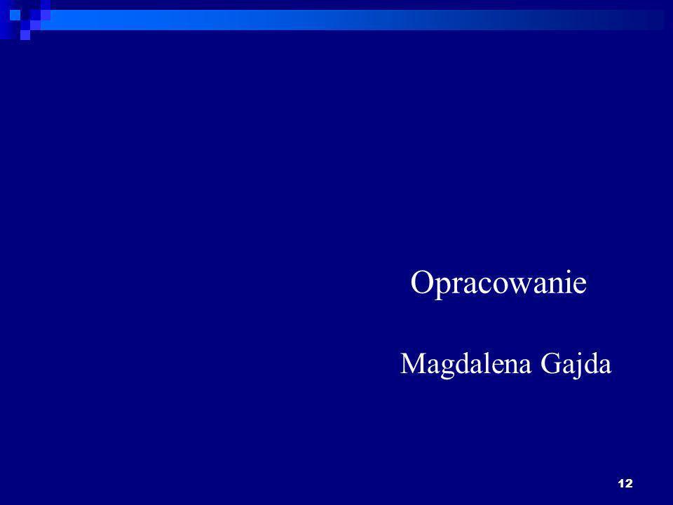 Opracowanie Magdalena Gajda