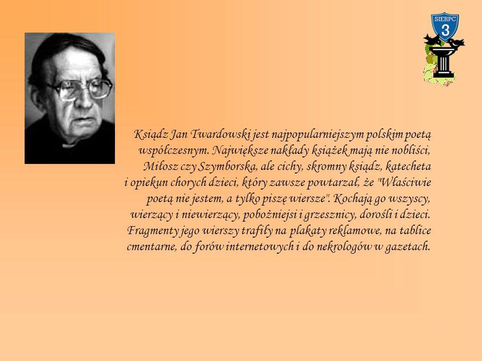 Ksiądz Jan Twardowski jest najpopularniejszym polskim poetą współczesnym.